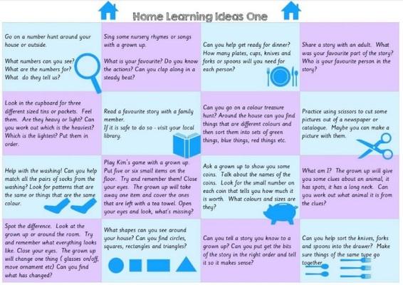 Standard nursery home learning ideas   one